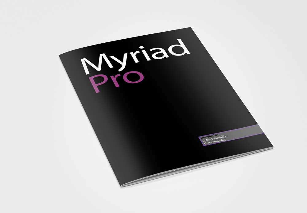 Kyle Osterhoudt   Myriad Pro Typeface Brochure & Poster